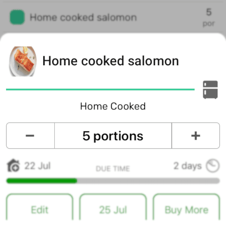 Cooked Meals Tracking