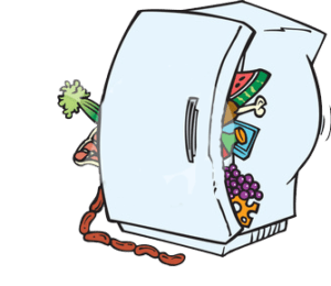 overfilled fridge