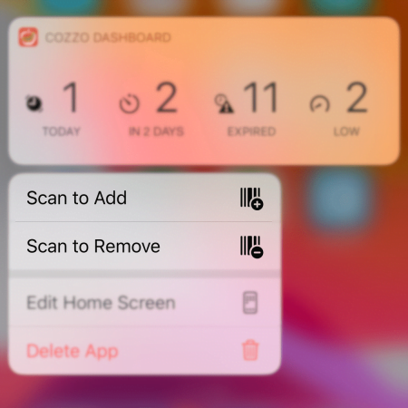 Scan to Add / Remove Shortcuts
